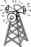 Communications tower with speakers vector Stock Image