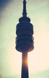 Communications Tower At Sunset Stock Photos