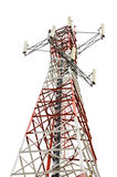 Communications Tower on white background Royalty Free Stock Photos