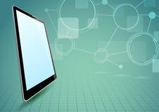 Communications via tablet device. Clip-art Stock Image