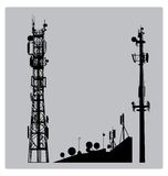 Communicatios Mast Stock Photography