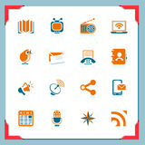 Communicaton icons | In a frame series Stock Images