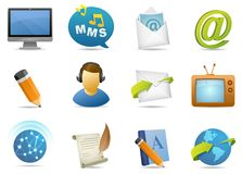 Communicatons icon #1 Royalty Free Stock Photography