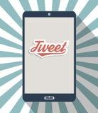 Communicator. Concept for social network and social media. Flat design illustration Royalty Free Stock Images