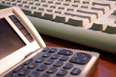 Communicator and keyboard Stock Photo