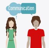 Communiceer, desing, vectorillusttration royalty-vrije illustratie