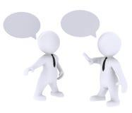 Communiceer en dialoog vector illustratie