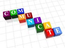 Communiceer in kleur 2 stock illustratie