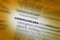 Communiceer - Mededelingen stock foto