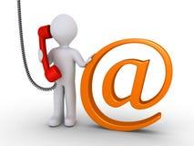 Communiceer met ons per e-mail of telefoon royalty-vrije illustratie
