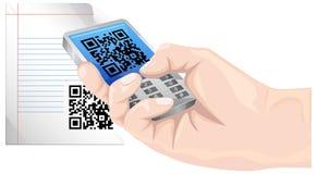 Communiceer met QR-Code - Illustratie stock illustratie