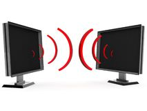 Communicerende televisies Stock Foto