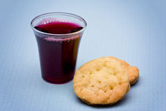 The Communion. On a blue background royalty free stock image