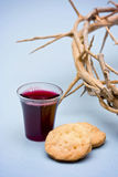 The Communion. On a blue background stock photography