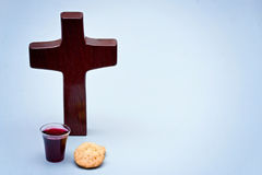 The Communion. On a blue background royalty free stock photo