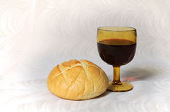 Communion Bread and Wine Royalty Free Stock Photo