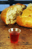 Communion Bread and Wine Royalty Free Stock Images