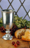 Communion Bread and Wine Royalty Free Stock Image