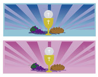 Communion Card template Royalty Free Stock Images