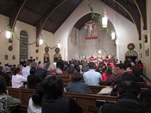 Communion on Christmas Eve royalty free stock photography