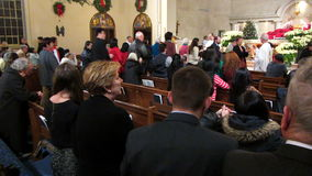 Communion on Christmas Eve stock video footage