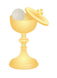 Communion cup. Vector communion cup and host Royalty Free Stock Photos