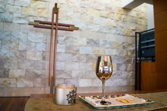 Communion Cup and Cross Royalty Free Stock Photo