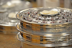 Communion Cups and Waffers Stock Images