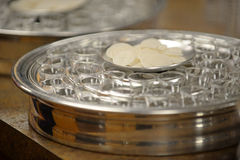 Communion Cups and Waffers Royalty Free Stock Photo