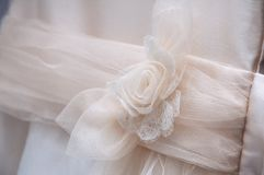 Communion dress with bow royalty free stock images