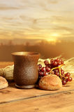 Communion Elements on Table Royalty Free Stock Photo
