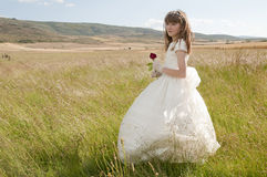 Communion girl Stock Image