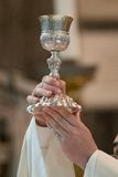 Communion Goblet. Goblet for the offertory of the Communion during the Mass Royalty Free Stock Photography