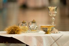 Communion offertory Stock Image