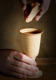 Communion sous les deux sortes ; communion Photos libres de droits