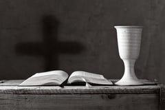 Communion sous les deux sortes, profondeur de champ Photos stock