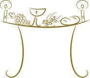 communion stół Zdjęcia Royalty Free