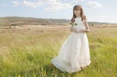 communion sukni pierwszy dziewczyny target986_0_ Obrazy Royalty Free