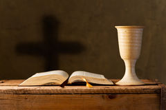 Communion under both kinds, shallow depth of field Royalty Free Stock Photography