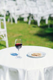 Communion at the wedding. / glass of wine Stock Image