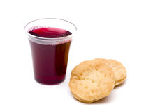 The Communion. On a white background stock photos