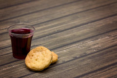 The Communion. On a wooden background royalty free stock image
