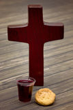 The Communion. On a wooden background royalty free stock photography