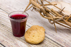 The Communion. On a wooden background royalty free stock photos