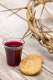 The Communion. On a wooden background stock photography