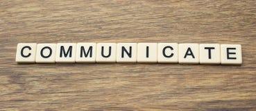 communiquez image libre de droits