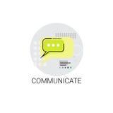 Communiquez l'icône sociale de message de communication de réseau de causerie illustration stock