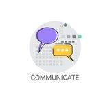 Communiquez l'icône sociale de message de communication de réseau de causerie illustration de vecteur