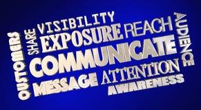 Communiquez l'information de part de collage de Word Photos libres de droits