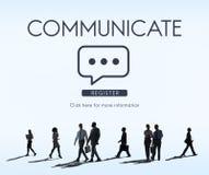 Communiquez la connexion d'entreprise de technologie de la parole illustration stock